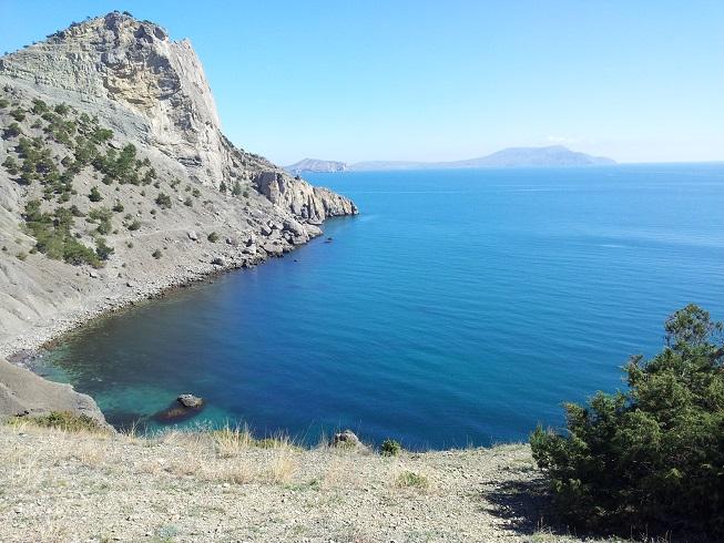 Крым. Синяя бухта в Новом Свете